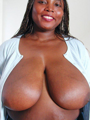 Busty ebony sister with very very huge..