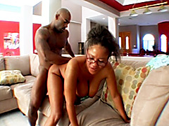 Sexy old black mom gets fucked by young stud