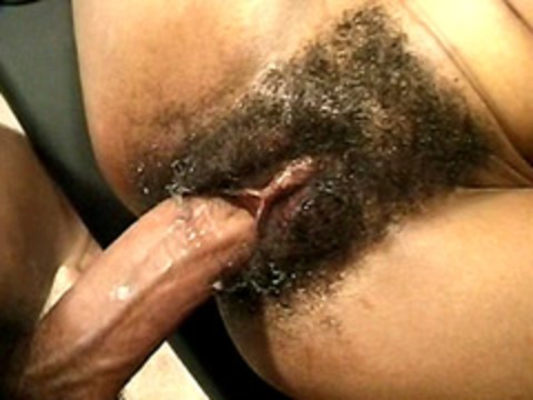 Black wet and hairy pussy