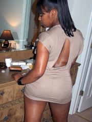 her ebony legs spreading amateur