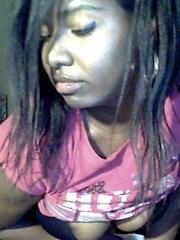 Young black girl webcam amusing idea