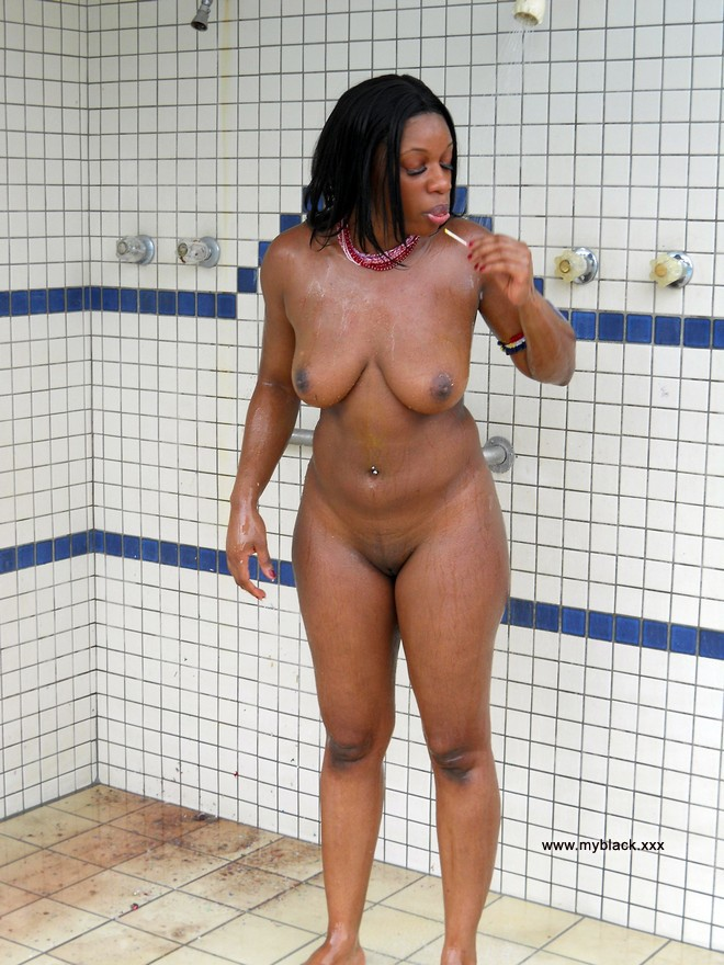 Nude topless hot ebony beach